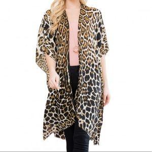 NEW Leopard Print Kimono Cardigan